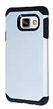 Dafoni Samsung Galaxy A3 2016 Slim Power Ultra Koruma Silver Kılıf