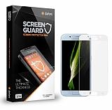 Dafoni Samsung Galaxy A3 2017 Tempered Glass Premium Beyaz Full Cam Ekran Koruyucu