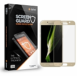 Dafoni Samsung Galaxy A3 2017 Tempered Glass Premium Gold Full Cam Ekran Koruyucu
