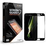 Dafoni Samsung Galaxy A3 2017 Tempered Glass Premium Siyah Full Cam Ekran Koruyucu