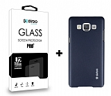Dafoni Samsung Galaxy A5 Dark Silver Kılıf ve Eiroo Cam Ekran Koruyucu Seti