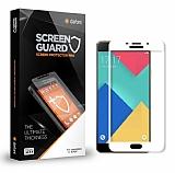 Dafoni Samsung Galaxy A7 2016 Curve Tempered Glass Premium Beyaz Full Cam Ekran Koruyucu