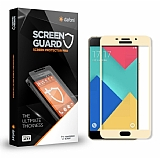 Dafoni Samsung Galaxy A7 2016 Curve Tempered Glass Premium Gold Full Cam Ekran Koruyucu