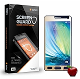 Dafoni Samsung Galaxy A7 Tempered Glass Ayna Gold Cam Ekran Koruyucu