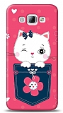 Dafoni Samsung Galaxy A8 Pink Cat K�l�f