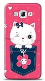 Samsung Galaxy A8 Pink Cat Kılıf