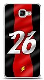 Dafoni Samsung Galaxy A9 Kırmızı Şimşekler Kılıf
