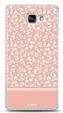 Dafoni Samsung Galaxy A9 Pink Flower Kılıf