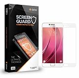 Dafoni Samsung Galaxy C5 Pro Curve Tempered Glass Premium Full Beyaz Cam Ekran Koruyucu