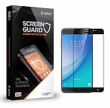 Dafoni Samsung Galaxy C7 Pro Tempered Glass Premium Full Siyah Cam Ekran Koruyucu