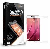 Dafoni Samsung Galaxy C7 SM-C7000 Curve Tempered Glass Premium Beyaz Full Cam Ekran Koruyucu