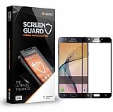 Dafoni Samsung Galaxy C7 SM-C7000 Curve Tempered Glass Premium Siyah Full Cam Ekran Koruyucu