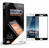 Dafoni Samsung Galaxy C8 Tempered Glass Premium Full Siyah Cam Ekran Koruyucu