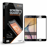 Dafoni Samsung Galaxy C9 Pro Curve Tempered Glass Premium Siyah Full Cam Ekran Koruyucu