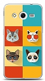 Samsung Galaxy Core 2 Four Cats Kılıf