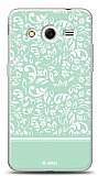 Dafoni Samsung Galaxy Core 2 Green Flower K�l�f