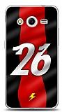 Dafoni Samsung Galaxy Core 2 Kırmızı Şimşekler Kılıf