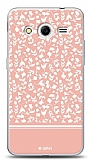 Dafoni Samsung Galaxy Core 2 Pink Flower Kılıf