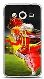 Dafoni Samsung Galaxy Core 2 Sarı Kırmızı Kılıf