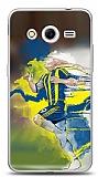 Dafoni Samsung Galaxy Core 2 Sarı Lacivert Kılıf