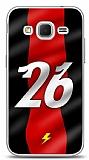 Dafoni Samsung Galaxy Core Prime Kırmızı Şimşekler Kılıf