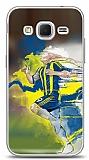 Dafoni Samsung Galaxy Core Prime Sarı Lacivert Kılıf