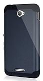 Dafoni Sony Xperia E4 Slim Power Ultra Koruma Siyah Kılıf