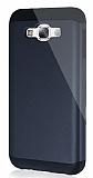 Dafoni Samsung Galaxy E7 Slim Power Ultra Koruma Siyah Kılıf
