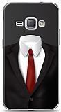 Dafoni Samsung Galaxy J1 2016 Black Suit Kılıf