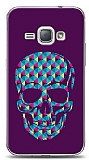 Dafoni Samsung Galaxy J1 2016 Color Skull Purple K�l�f