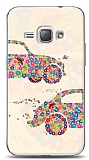 Dafoni Samsung Galaxy J1 2016 Flower VosVos Kılıf