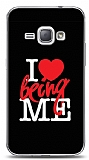 Samsung Galaxy J1 2016 I Love Being Me Black Kılıf