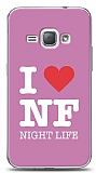 Dafoni Samsung Galaxy J1 2016 I Love Night Life Pink K�l�f