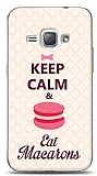 Samsung Galaxy J1 2016 Keep Calm And Eat Macaron Kılıf