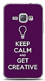 Samsung Galaxy J1 2016 Keep Calm And Get Creative Mor Kılıf