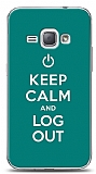 Samsung Galaxy J1 2016 Keep Calm And Log Out Green Kılıf