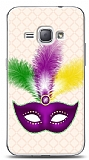 Dafoni Samsung Galaxy J1 2016 Purple Mask 2 Kılıf