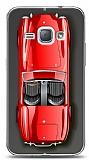 Dafoni Samsung Galaxy J1 2016 Red Retro Car K�l�f