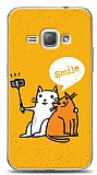 Dafoni Samsung Galaxy J1 2016 Selfie Cat Kılıf