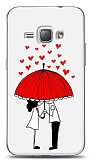 Dafoni Samsung Galaxy J1 2016 Umbrella Love Kılıf