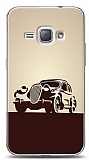 Samsung Galaxy J1 2016 Vintage Car Cream Kılıf