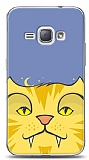 Samsung Galaxy J1 2016 Yellow Cat Kılıf