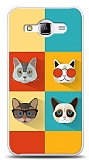 Dafoni Samsung Galaxy J1 Ace Four Cats Kılıf