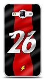 Samsung Galaxy J1 Ace Kırmızı Şimşekler Kılıf