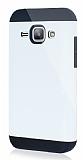 Dafoni Samsung Galaxy J1 Slim Power Ultra Koruma Beyaz Kılıf