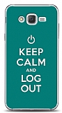 Samsung Galaxy J2 Keep Calm And Log Out Green Kılıf