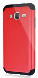 Dafoni Samsung Galaxy J3 2016 Slim Power Ultra Koruma Kırmızı Kılıf