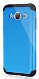Dafoni Samsung Galaxy J3 2016 Slim Power Ultra Koruma Mavi Kılıf