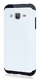 Dafoni Samsung Galaxy J2 Slim Power Ultra Koruma Beyaz Kılıf