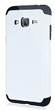 Dafoni Samsung Galaxy J3 2016 Slim Power Ultra Koruma Beyaz K�l�f
